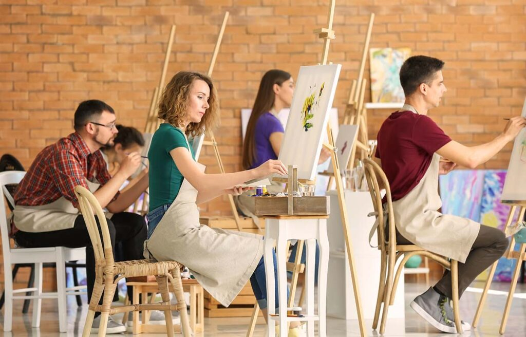 group art sessions - oil painting