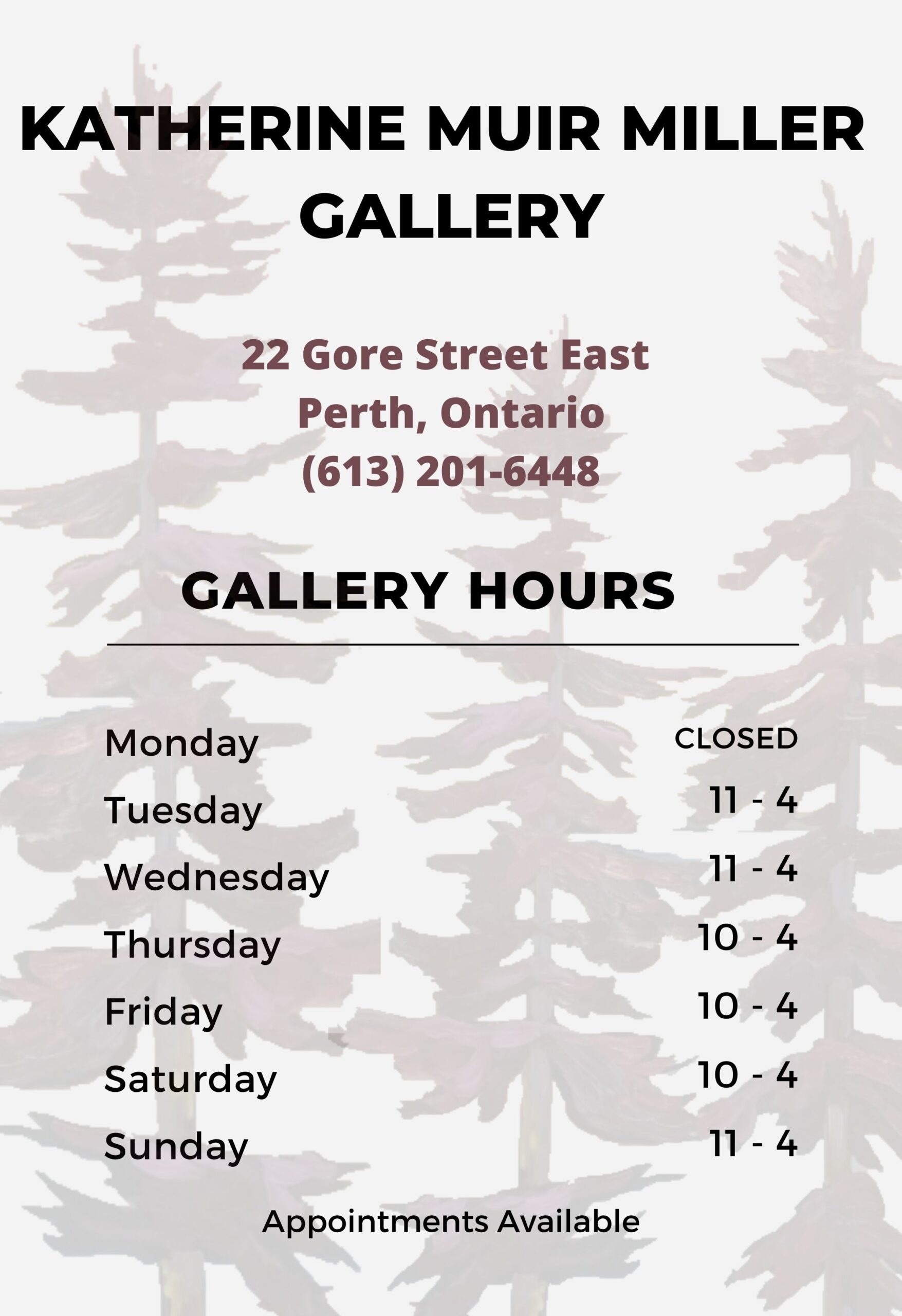 Hours of Gallery